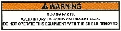 Moving Parts Warning Label