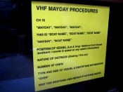 Mayday Calling Instructions Label