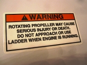 Transom Propeller Warning Label