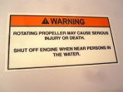 Helm Propeller Warning Label